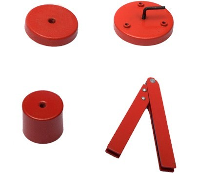 Red Coating Holding Assemblies